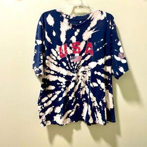 Nike USA Custom Bleached Tye Dye XXL Shirt